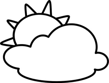 380x290 Partly Cloudy With Sun Weather Icon Clip Art Web Clipart