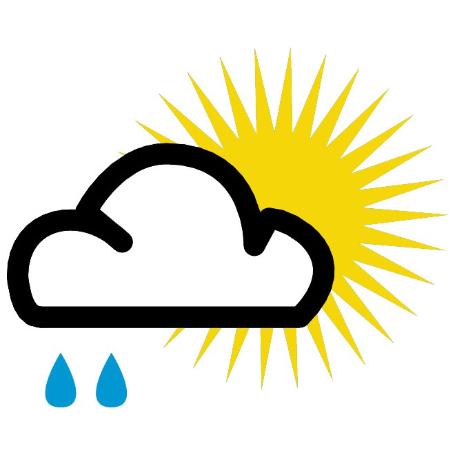 660x660 Partly Sunny Vector Weather Symbol