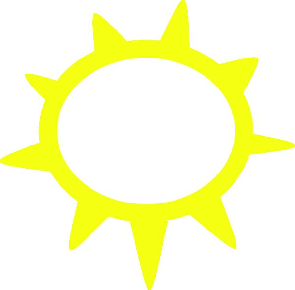 600x590 Sunny Weather Symbols Clip Art