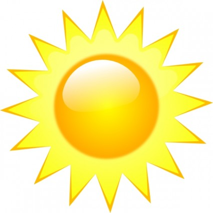 425x425 Sunny Clipart Weather Forecast Symbol