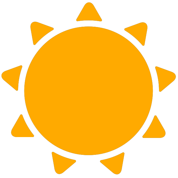 600x600 Simple Weather Icons Sunny Svg(Vector)public Domain Icon Park