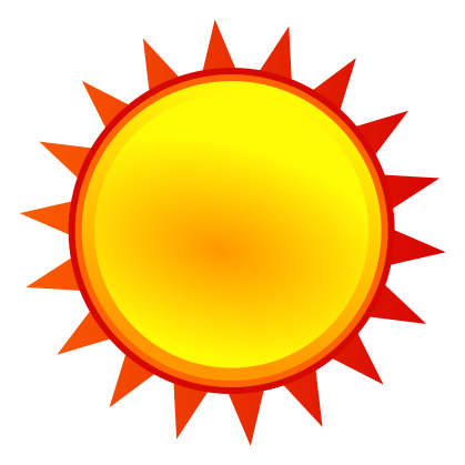419x419 Filenuvola Weather Sunny.svg