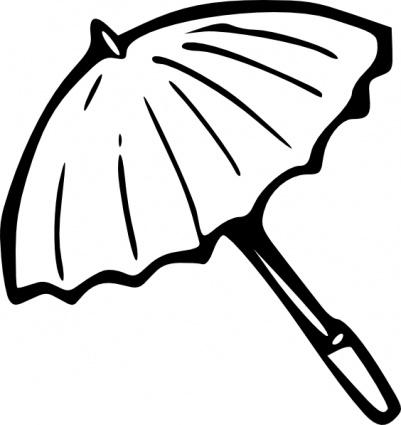 401x425 Beach Umbrella Clipart Black And White