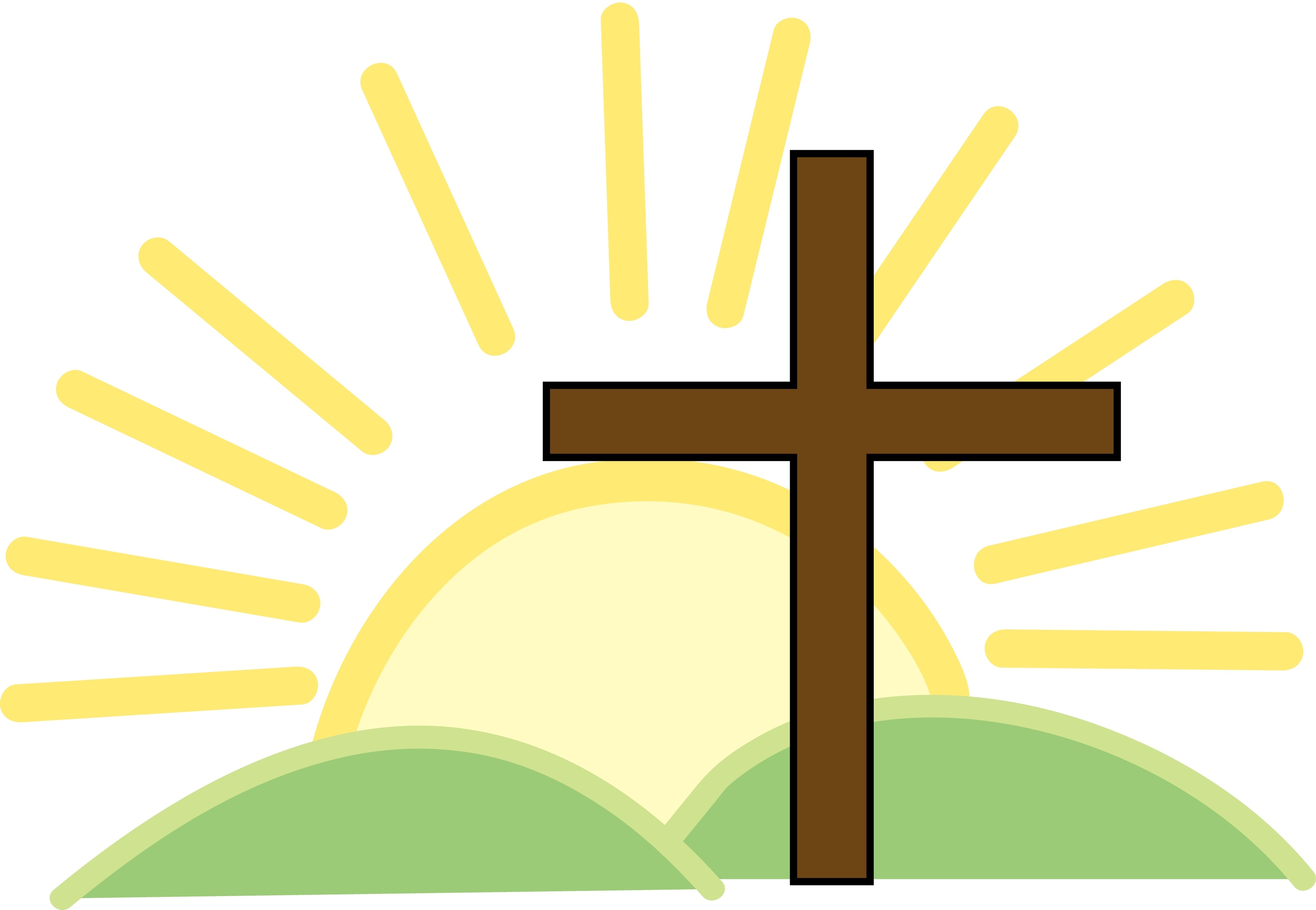 3300x2283 Cross Sunrise Clipart