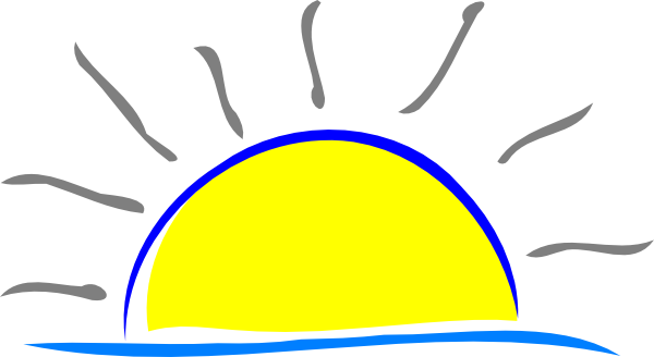 600x328 Sunrise Sunset Clipart