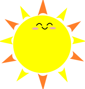 282x297 Sunrise clipart happy sun