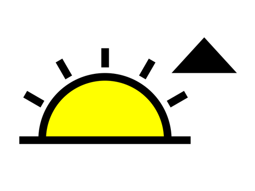 500x375 Sunrise symbol Public domain vectors