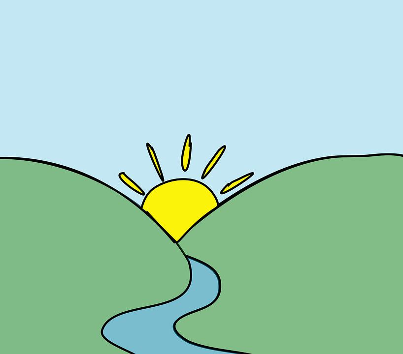 818x720 Dawn Clipart Mountain Sunrise