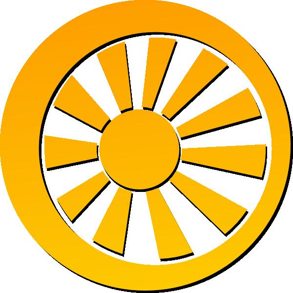 600x600 Sun Clip Art