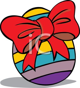 317x350 Colorful Painted Easter Egg With A Bow