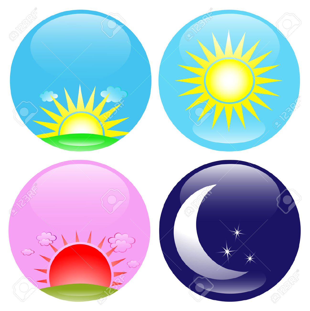1298x1300 Morning Afternoon Evening Clipart Night Cliparts