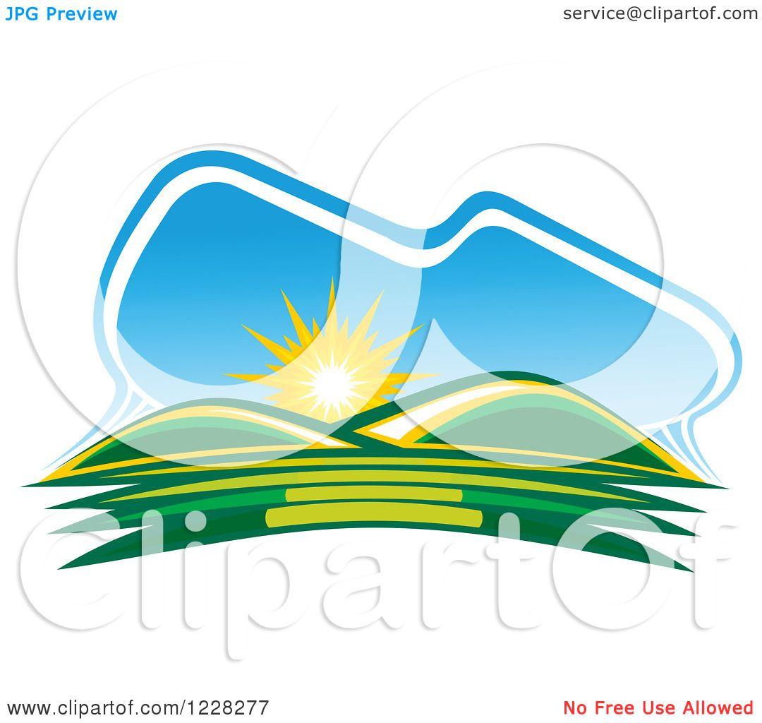1080x1024 Sunrise Clipart Hills