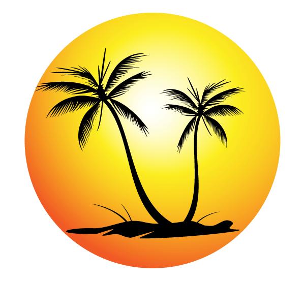 Sunset Beach Clipart