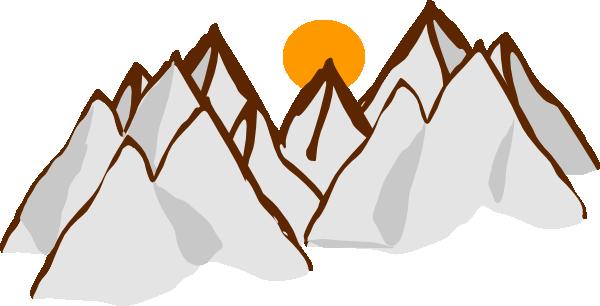 600x306 Mountain Range Sunset Clip Art