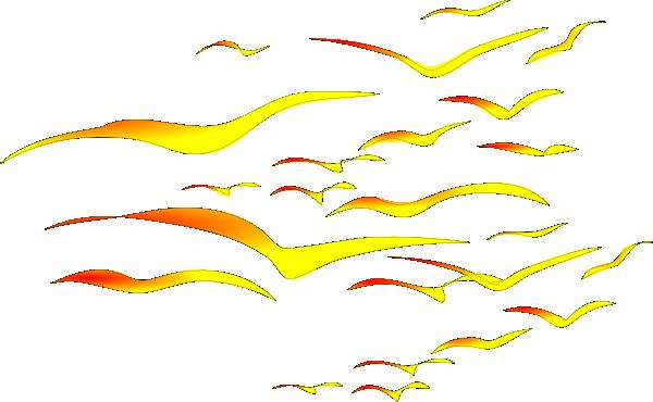 600x370 Sunset Birds Clip Art