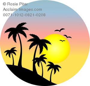 300x287 Sunset Silhouette Clip Art Cliparts