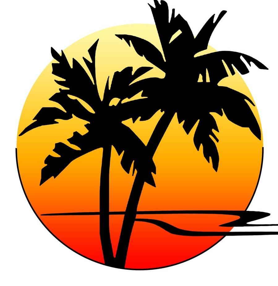 899x925 Sunset Clipart Palm Tree Sunset