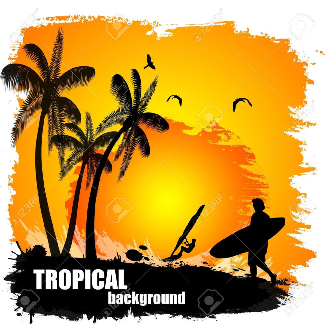 1300x1300 Sunset Clipart Tropical Sunset