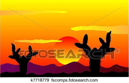 450x291 Desert Sunset Clipart