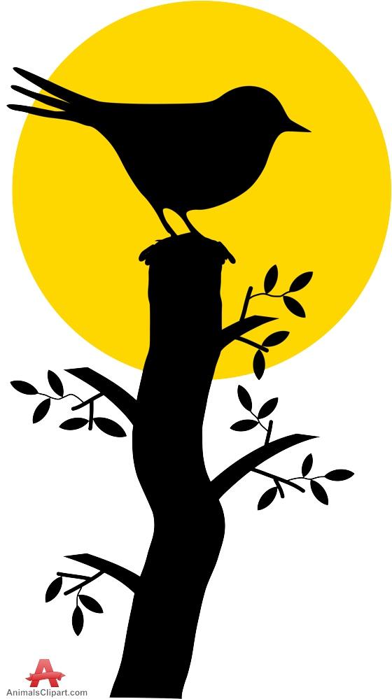 560x999 Bird Silhouette On Branch