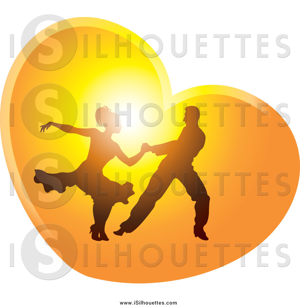 1024x1044 Clipart Of A Silhouetted Ballroom Dance Couple Dancing In A Sunset