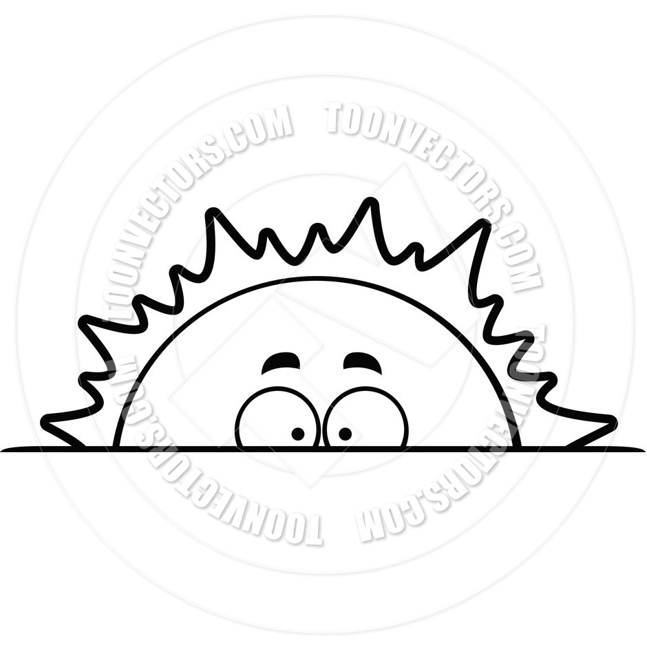 940x940 morning sun clipart black and white