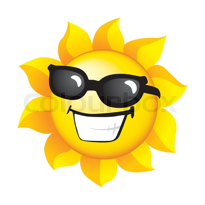 800x800 Smiling Sunshine Stock Vector Colourbox