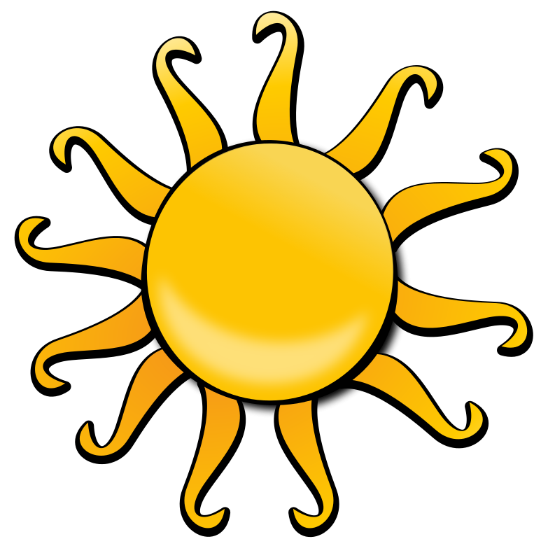 783x800 Sunshine Clipart Cartoon