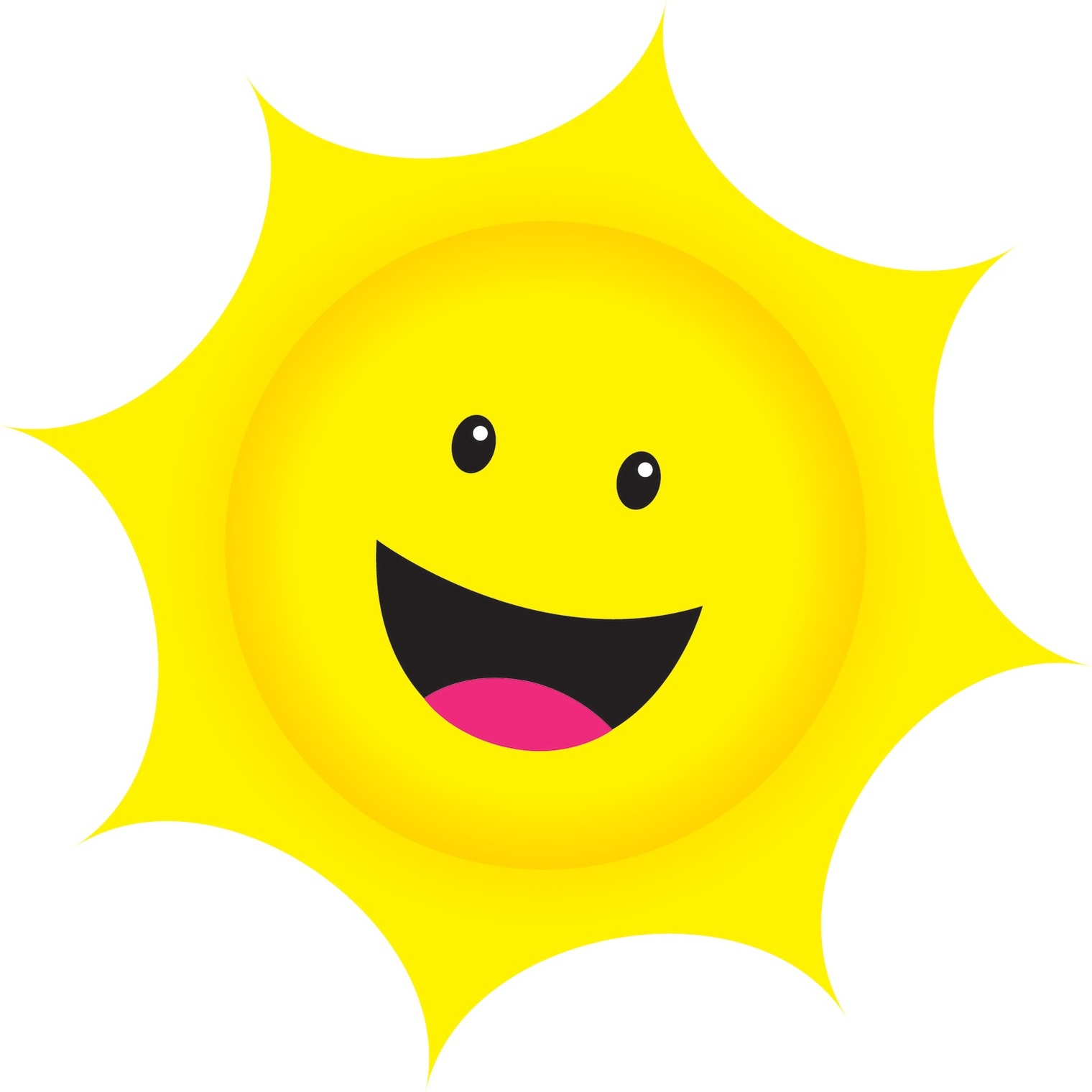 1520x1520 Sunshine Clipart Sun Smiling