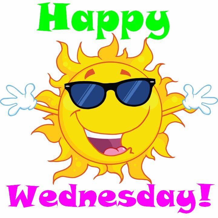 720x720 Cartoon, Happy Wednesday, Shades, Sun, Sunshine