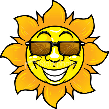 380x380 Cartoon Sunshine Clipart