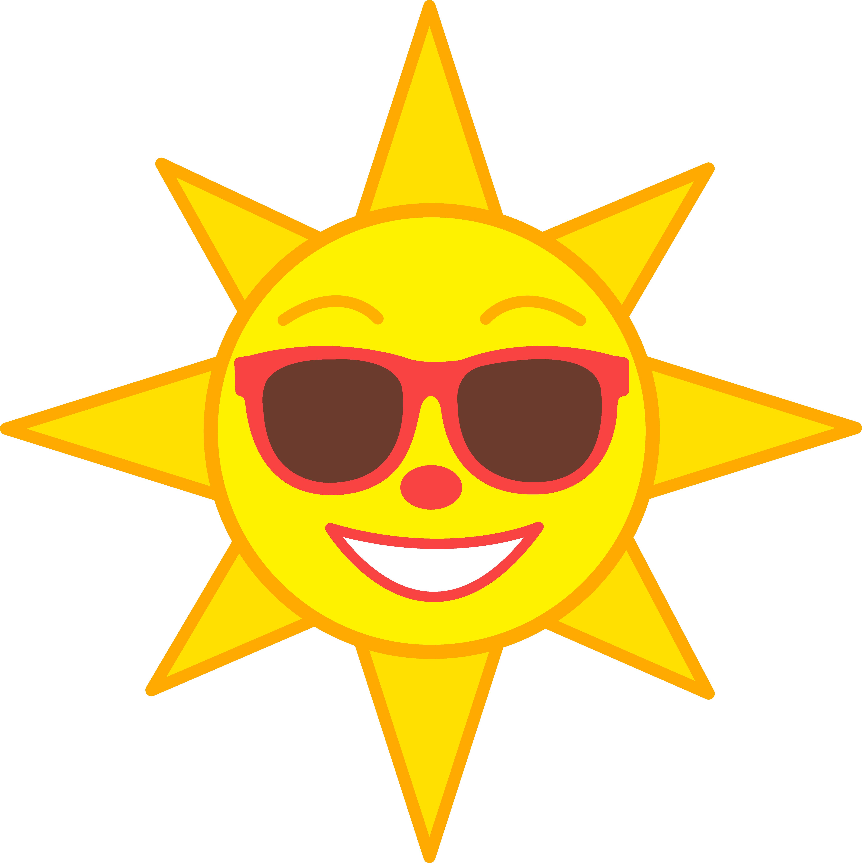 5590x5601 Happy Yellow Sun Wearing Shades