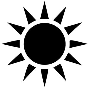 300x294 Sunshine Clipart Vector