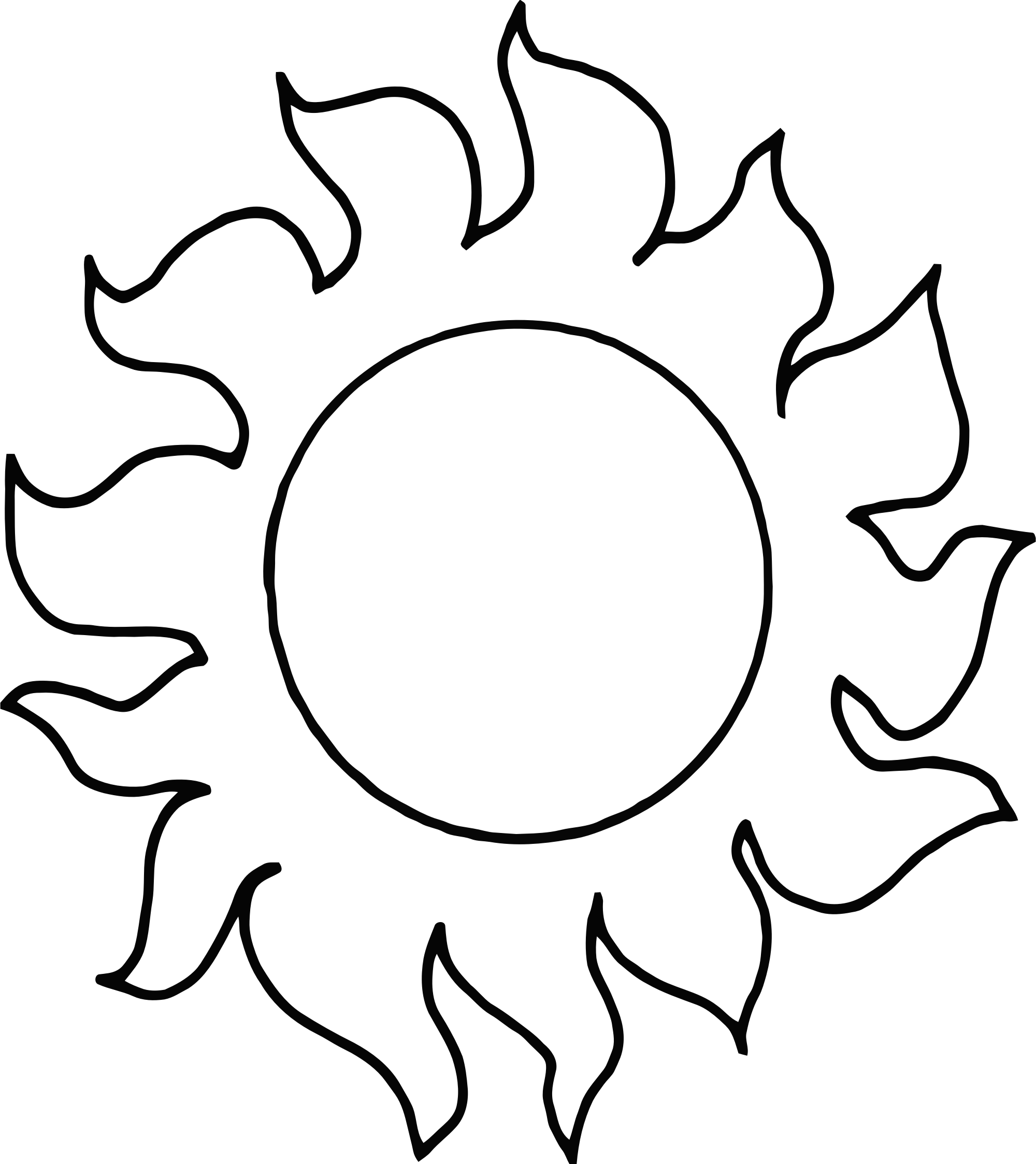 2000x2247 Abstract Clipart Sunshine