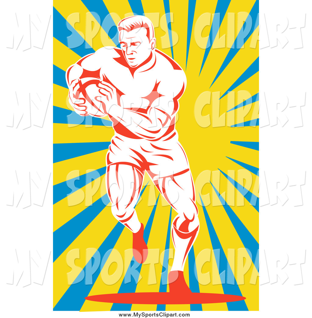 1024x1044 Sports Clip Art Of A Red And White Rugby Football Player Over