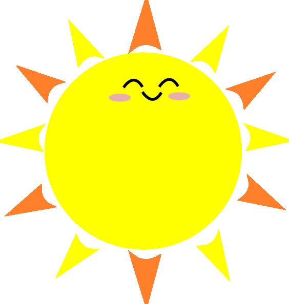 564x594 Sunshine Vector Clipart