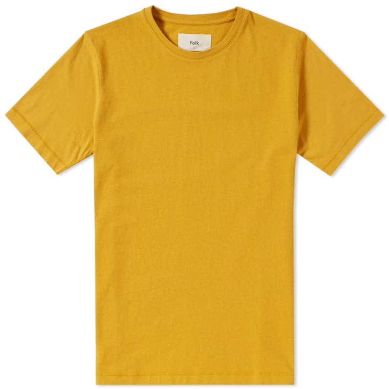 760x760 Folk Contrast Sleeve Tee (Sunshine Yellow) End.