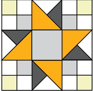 300x294 Peek Of Sunshine Free Quilt Block Pattern