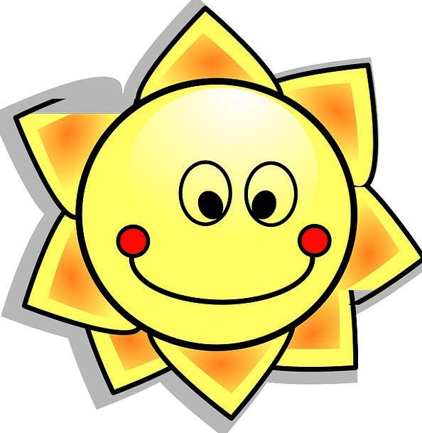 594x609 Sun, Astral, Sunshine, Sunlight, Solar, Cartoon, Animation, Media
