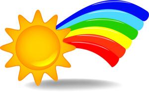 300x187 Sunshine And Rainbow Clipart Amp Sunshine And Rainbow Clip Art