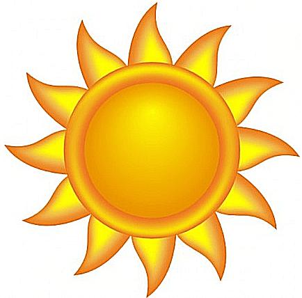 434x428 Sunshine Clipart Free