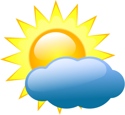432x399 Sunshine With Cloud Clipart