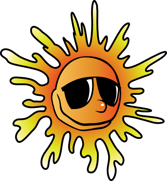 552x597 Free Sun With Sunglasses Clipart Louisiana Bucket Brigade
