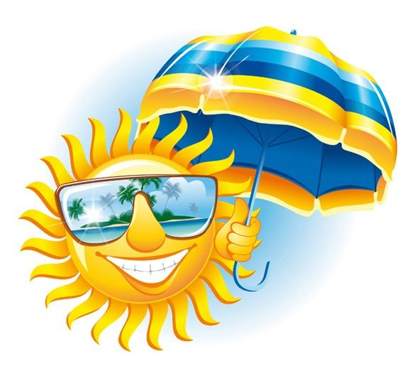 Sunshine With Sunglasses Clipart