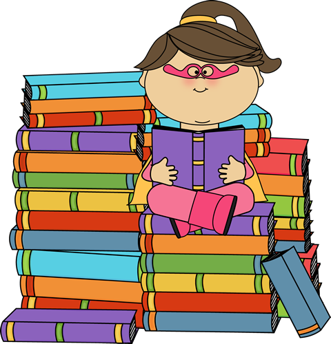 480x500 Super Girl Clipart Super Reader