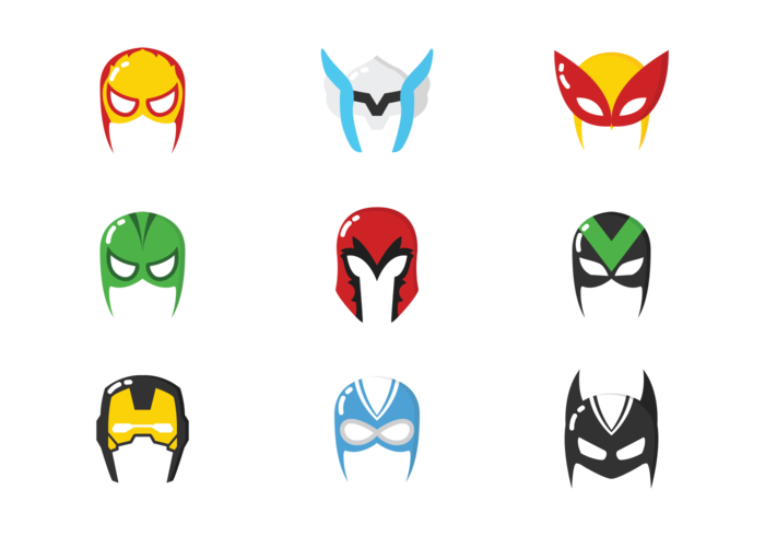 700x490 Super Hero Mask Vectors