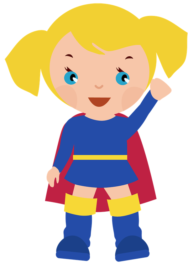 600x840 Superhero Kids Clipart