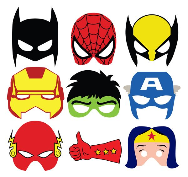 600x564 Super Cute Masks For Photo Booth Or Goodie Bags. Mascaras Para