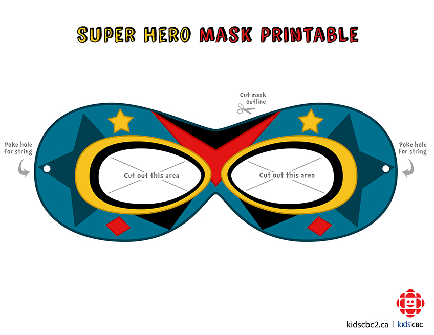 image regarding Superhero Printable Mask identified as Tremendous Hero Mask Template Free of charge down load suitable Tremendous Hero
