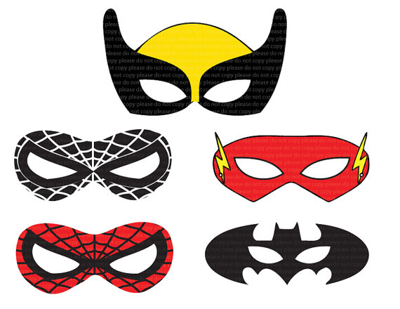 Refreshing image regarding free printable superhero mask